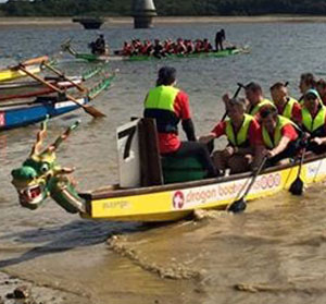P Major and Daughters Sevenoaks Weald Dragon Boat Race