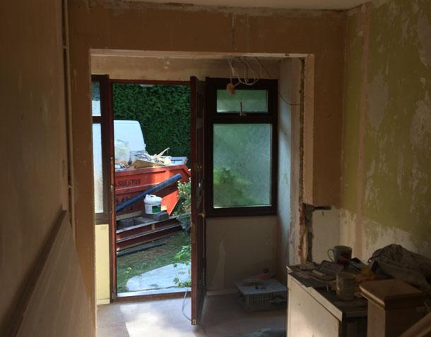P Major and Daughters entrance hall extension before completion