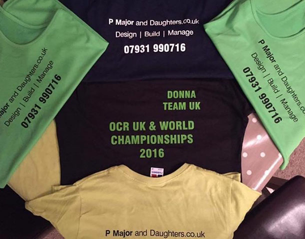 OCR sponsors, P Major and Daughters t-shirts