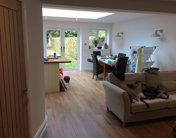 P Major and Daughters open-plan kitchen after completion